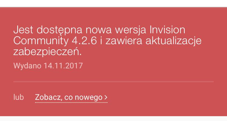Aktualizacja do Invision Community 4 2 6 - Ogólny support